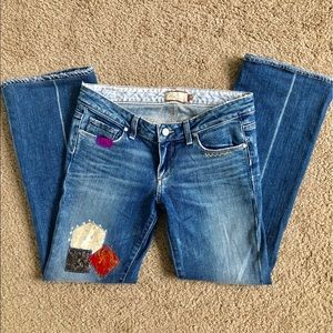 Paige Laurel Canyon Patched Jeans 28R